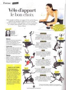 VÉLO D'APPART LE BON CHOIX Santé Magazine Clarisse Nénard DEC 2017