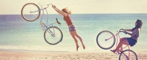 A bicyclette…