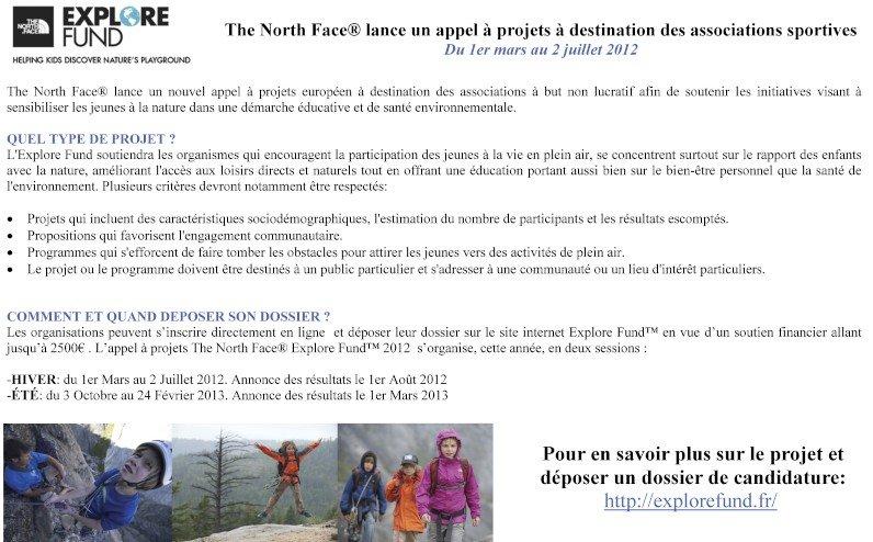 The North Face lance un appel d'offre! dans Bons Plans TNFAppelaprojets