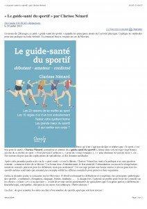 « Le guide-santé du sportif » par Clarisse Nénard_Page_1