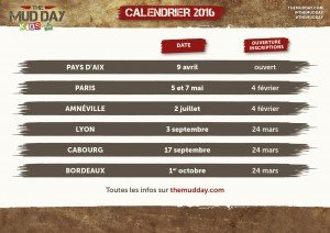 Mud Day calendrier Kids 2016