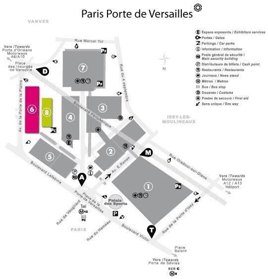 Parc des expositions porte de versailles plan 28 images for Les salons porte de versailles 2016