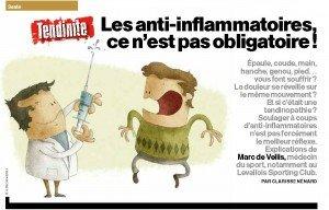 Anti-inflammatoires ce n'est pas obligatoire MH