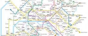 La carte du métro de Paris avec les calories brûlées entre chaque station…