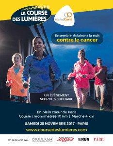 Affiche Course des Lumières 2017 - Institut Curie